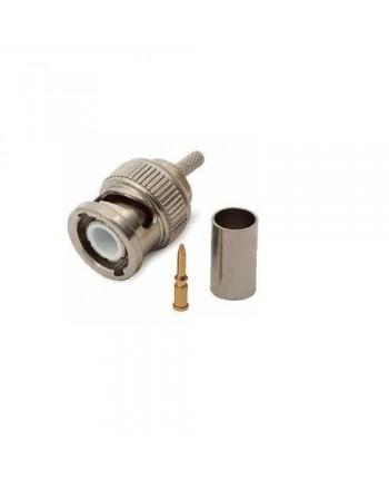 Conector BNC de Crimpar com anel 4mm - PN0056