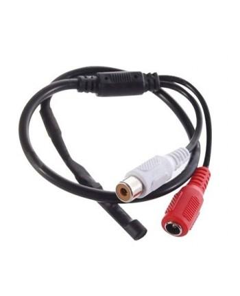 Microfone Pré Amplificado Para CFTV Alcance 40 m²