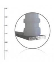Haste para Cerca Elétrica 6 Isoladores - Confihastes PN0126
