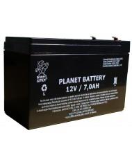 Bateria Selada Recarregável Back Up 12V 7A para Alarmes e Cerca Elétrica - PN0245